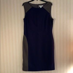 WHBM charcoal and navy dress.